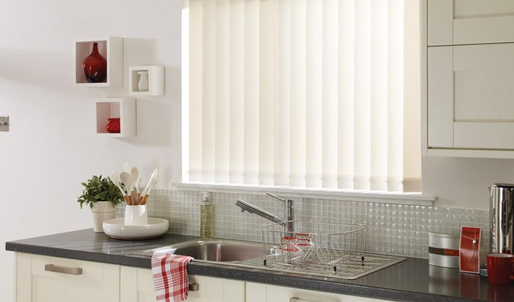 Vertical blinds curtains dubai blinds shades drapes - Pristine shades white home decor ...